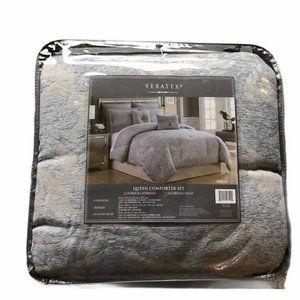 Blue Printed Queen Veratex Queen Comforter Set